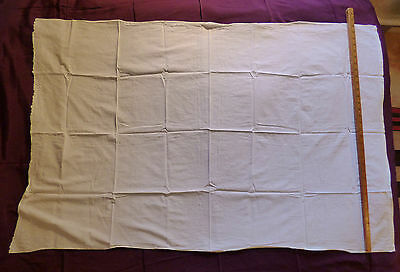 Two Antique Handmade Child Size Sheets Embroidered Some Repair Cotton / Linen?