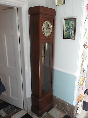 Art Deco antique oak longcase clock HAC Hamburg American