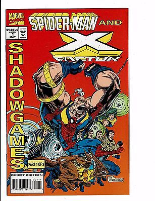 Lot of 3 Spider-Man and X-Factor Marvel Comic Books #1 2 3 BH36