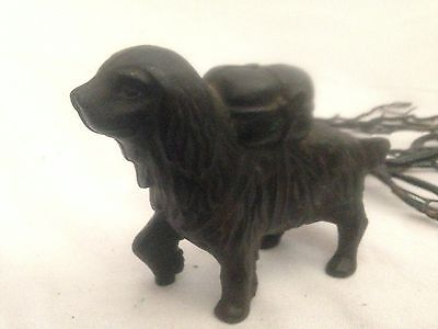 "Vintage 1901-1935 St. Bernard 4"" Antique Cast Iron Coin Bank by A. C. Williams"