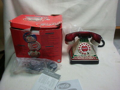 2001 Coca Cola Phone-Tiffany Style-Lights up never used