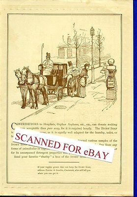 LOT (5) original antique 1885 -1887 Ivory Soap full page ads