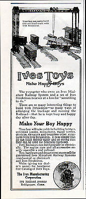 1914  Ives Toys Ad ---Miniture Railway System  --j814