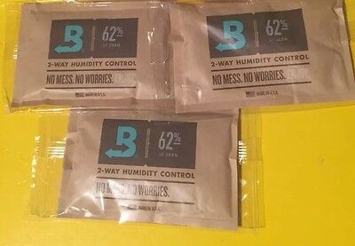 3ct Boveda 62% RH 2-Way Humidity Control, Large 60 gram Brand New Sealed Bags