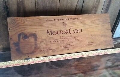 Vintage Mouton Cadet Bordeaux Wine Shipping Crate / Box
