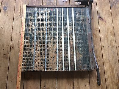 Vintage Green Cutting Board, Arts & Crafts Industrial Themed , Very Heavy 25x25