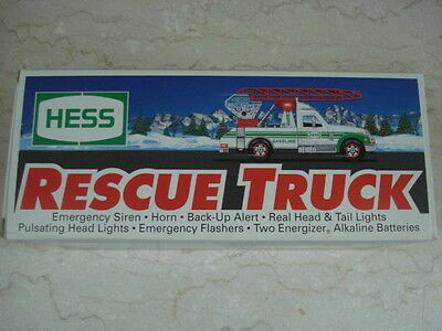 1994 Hess Toy Rescue Truck New with Original Box & Insert
