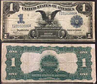 1899 1.00 One Dollar Silver Certificate Large Note -- Grant And Lincoln Depicted