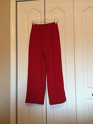 VINTAGE 90's Ralph Lauren Red High-Waisted Pleated Wool Dress Pants 6