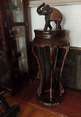 Tall Vintage Chinese Hardwood Table Stand