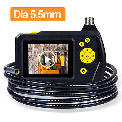 "LCD Waterproof 2.7"" Video Snake Inspection Endoscope Borescope Tube 5.5mm Camera"