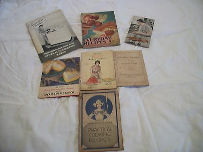 Vintage Recipe Booklets, Advertisements, Lot of 7