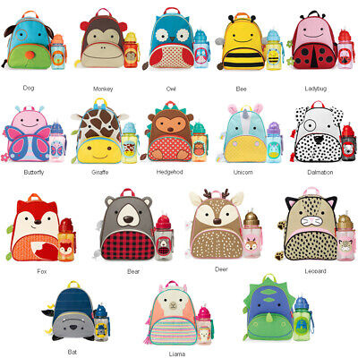 SKIP HOP ZOO BACKPACK BAG  + DRINK STRAW BOTTLE SET Big Deal
