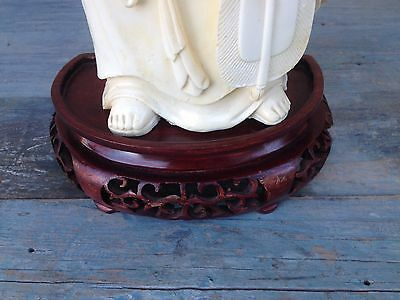 2 Beautiful Antique Chinese Rose Hardwood Carved Bases Stands For Buddha Or Vase