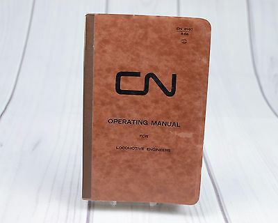 CN Canadian National Operating Manual Diesel Electric Locomotive 1972 Booklet