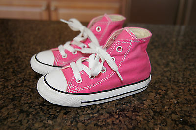 Converse Girl's Size 8 Toddler All Star VGUC Pink