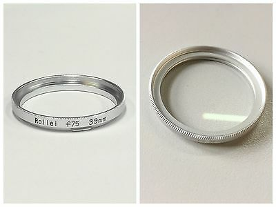 New 39mm filter adapter Ring For Rolleiflex 75/F3.5 lens with 39mm UV Silver