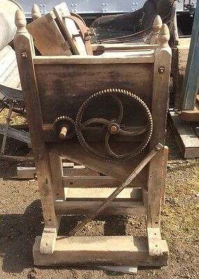Antique Primitive Corn Sheller, Duo Feed , Hand Crank , Stenciled ,
