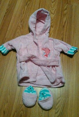 baby girl dolphin bathrobe and slippers 0-9 month
