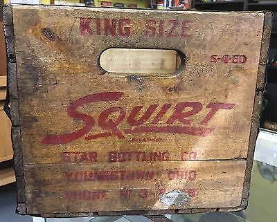 Very Rare Star Bottling Squirt Antique Pop Soda Crate