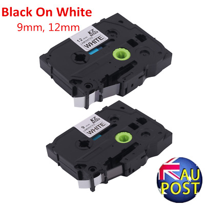 Kze-231 Black On White 9MM/12MM Label Tape Compatiable For Brother P-TOUCH OK