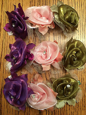 Curtain Call Ballet Costume Flower Headpieces Pink, Purple, Gold Floral Wreath L
