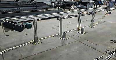 "4"" x 20'  Plastic Chain Conveyor. Aluminum construction 230/480v motor"