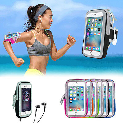 "Sport Running Riding waterproof Arm Band Case Zipper Bag For 5.0~5.8""Cell Phone"