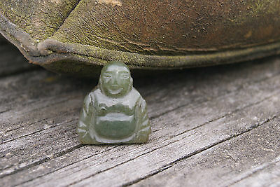 Vintage Buddha Pendant Hand Carved Chinese Buddha Jade Loose Piece