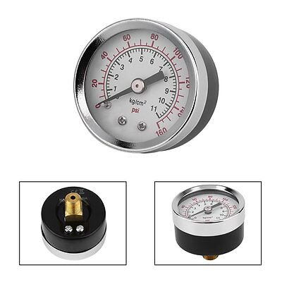 Vacuum Pressure Gauge Tester TS-40-160Psi 1.5 Inch Face Back Mount 1/8 Inch  @W