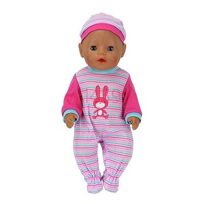 meired Grid jumpsuit+hatWearfor 43cm Baby Born zapf (only sell clothes )