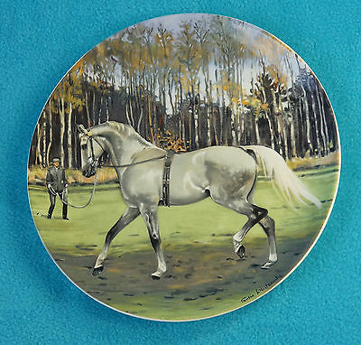 Hanoverian warmblood, #5 in vintage Noble Horse plate series - dressage - Mint