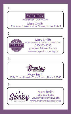 SCENTSY Personalized Catalog Labels, 30 Per Sheet, Independent Consultant Labels