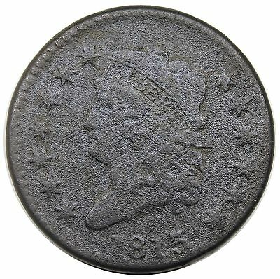 1813 Classic Head Large Cent, S-292, F detail