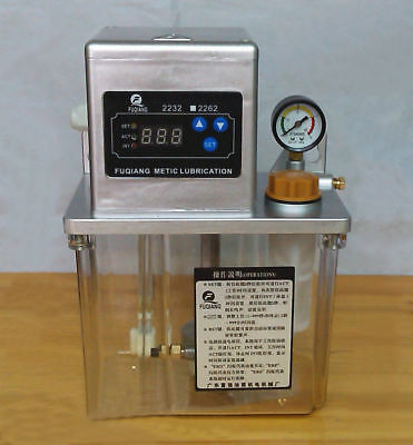 220V 2L Auto Lubrication Pump CNC Digital Electronic Timer LCD Automatic Oiler