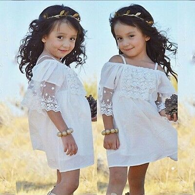 Flower Girl Dress Princess Vintage Special Occasion Party Wedding Lace Skirt