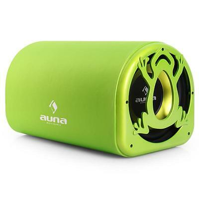 "Auna Active Car Subwoofer Green Tree Frog 600W 10"" New"
