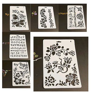 Layering Stencils Templates  for Scrapbooking Drawing Home Decor Card DIY Gift
