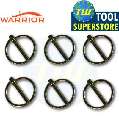 6x Trailer Security Lynch Ring Pins 35mm x 4.5mm Tractor Hitch Tow Bar Caravan