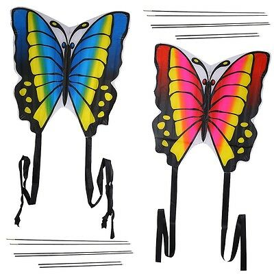 Butterfly Kids Kite Funny Sport Colorful Print Long Tail Toy Gift 880x780mm New