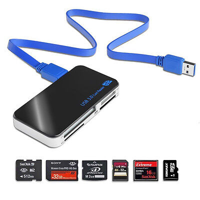 All in 1 USB 3.0 Compact Flash Multi Card Reader CF Adapter Micro SD MS XD 5Gbps