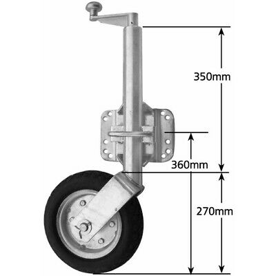 Heavy Duty U-bolt Jockey Wheel (1000kg)