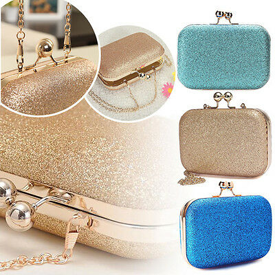 Women Lady Bag Glittered Clutch Wedding Evening Party Purse Banquet  Shoulder Bag 7d99020c691b