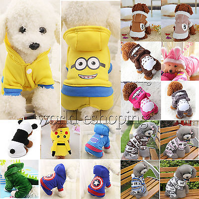 Pet Dog Cat Puppy Sweater Hoodie Coat Winter Warm Jacket Clothes Costume Apparel