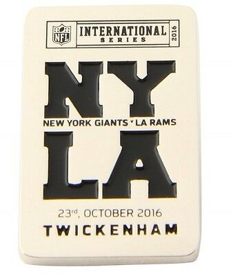 NFL International series wembley London NEW YORK GIANTS  - L.A. RAMS  Pin badge