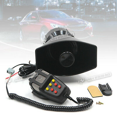 Car 12V 100W 7 Sounds Speaker Megaphone Emergency Whistle LoudSpeaker Siren Horn