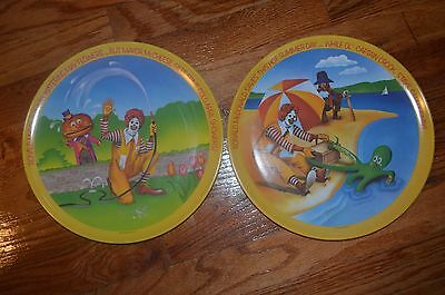 McDonald's  Collectors Plates ~Two~  Used 1977 (5676)