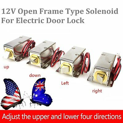 Hot Small DC 12V Open Frame Type Solenoid For Electric Door Lock Silver ID
