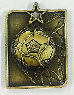 Soccer Medals Football EPL Medal Trophy Award 50x40mm FREE Engraving & Ribbon