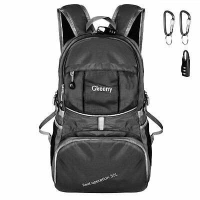 Large 35L Lightweight Backpack Outdoor Hiking Activities 13.38 X 7.5 X 20 inch